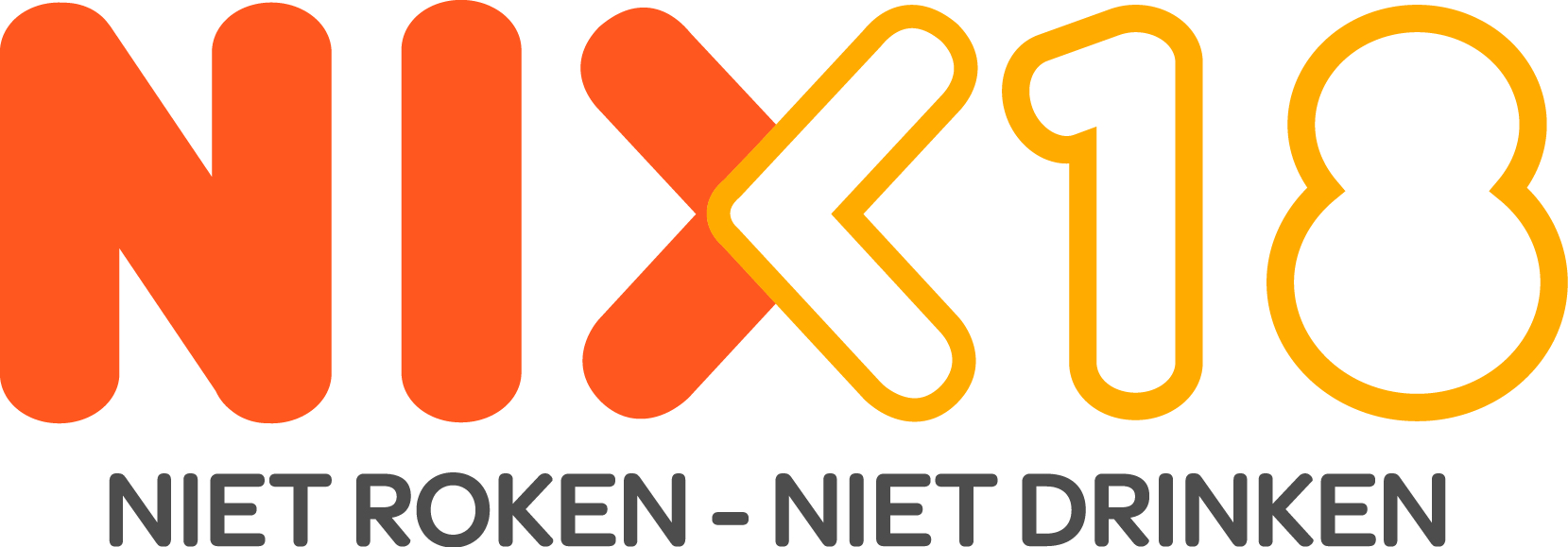 Tabak, sigaren, sigaretten en e-sigaretten nix 18 logo